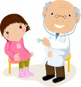15170245-The-little-girl-on-reception-at-doctor--Stock-Vector-doctor-patient-child